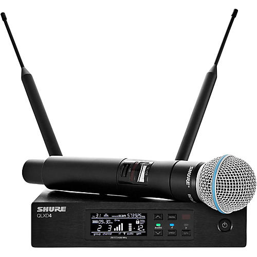 Shure QLX-D Digital Wireless System with Beta 58 Microphone