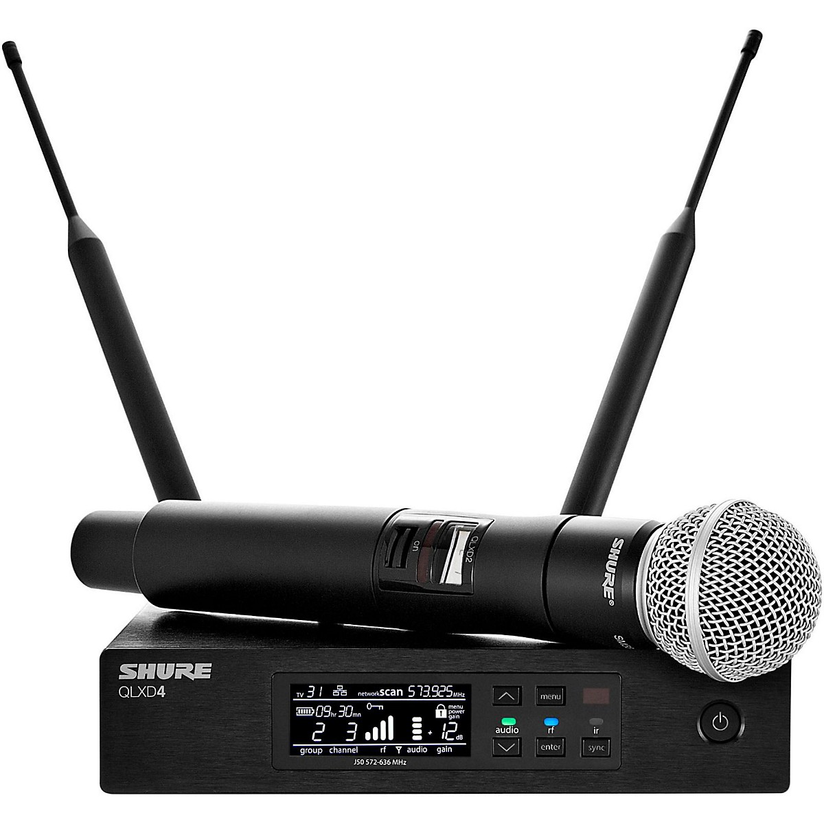 Shure QLX-D Digital Wireless System with SM58 Dynamic Microphone