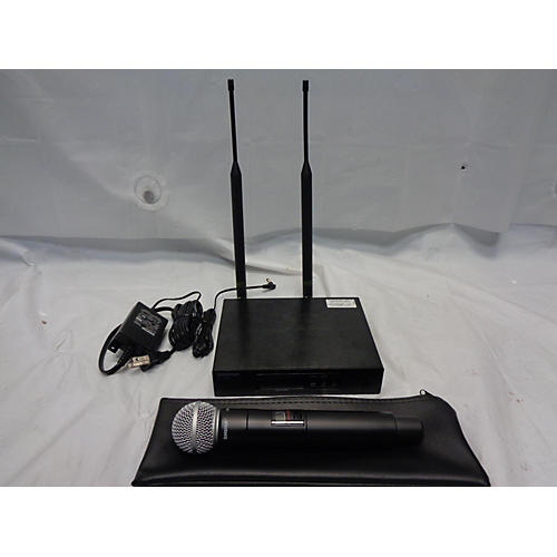 used shure qlx d wireless microphone system sm58 handheld wireless system guitar center. Black Bedroom Furniture Sets. Home Design Ideas