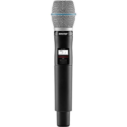 Shure QLXD2/BETA87C Wireless Handheld Microphone Transmitter With Interchangeable BETA 87C Microphone Capsule