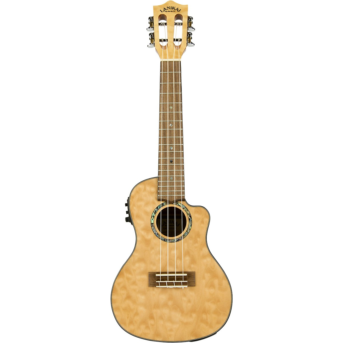 Lanikai QM-CEC Quitled Maple Concert Acoustic-Electric Ukulele
