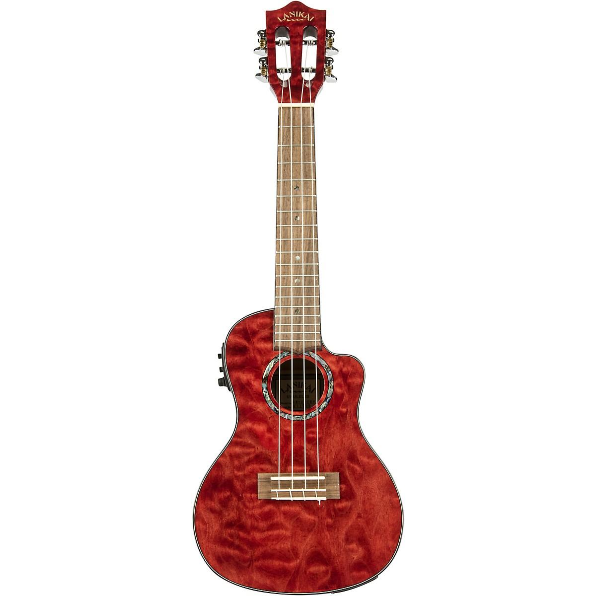 Lanikai QM-CEC Quitled Maple Concert Acoustic-Electric Ukulele