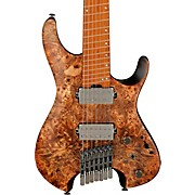 QX Headless 7str Electric Guitar Antique Brown Stained