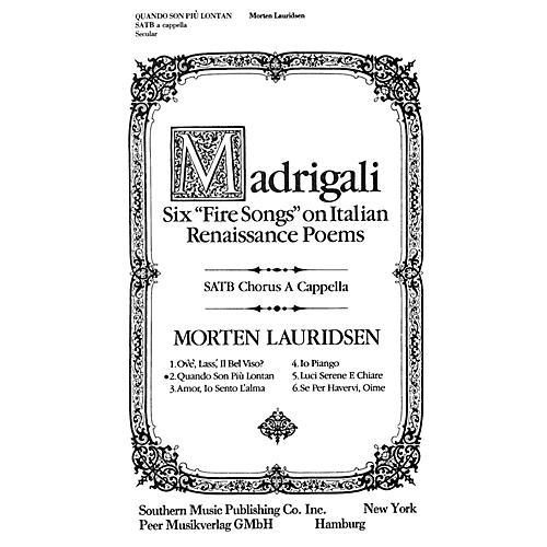 Peer Music Quando Son Più Lontan SATB a cappella Composed by Morten Lauridsen