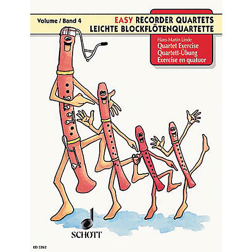 Schott Quartet Lessons for Recorders (Performance Score) SATB Composed by Hans-Martin Linde