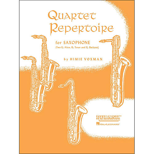 Hal Leonard Quartet Repertoire for Saxophone Second E Flat Alto