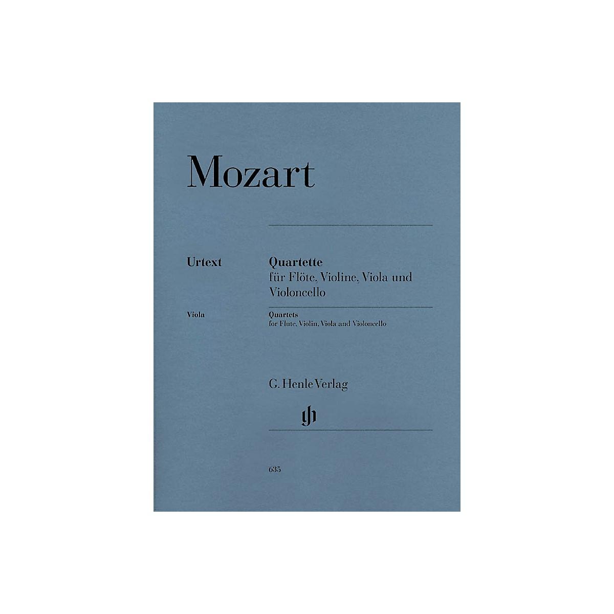 G. Henle Verlag Quartets for Flute, Violin, Viola, and Violoncello Henle Music by Wolfgang Amadeus Mozart