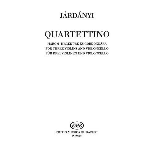 Editio Musica Budapest Quartettino-3 Vln/vcl EMB Series by Pál Járdányi