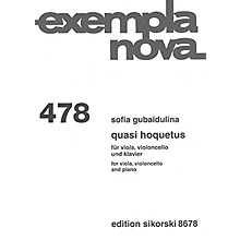 Sikorski Quasi Hoquetus (for Viola, Cello and Piano) String Ensemble Series Composed by Sofia Gubaidulina