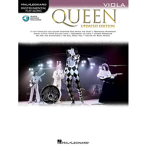 Hal Leonard Queen - Updated Edition Viola Instrumental Play-Along Songbook Book/Audio Online