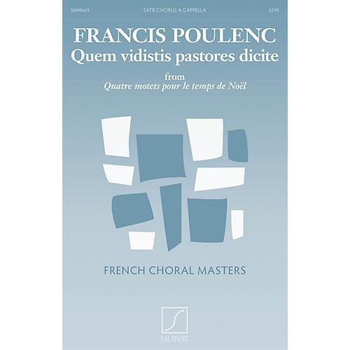 Salabert Quem vidistis pastores dicite SATB a cappella Composed by Francis Poulenc