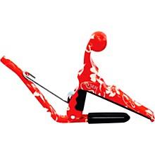 Kyser Quick-Change Ukulele Capo - Red Hibiscus