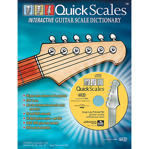 Alfred Quick Scales Interactive Guitar Scale Dictionary Book with CD-ROM