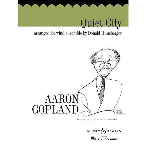 Boosey and Hawkes Quiet City (Score and Parts) Concert Band Composed by Aaron Copland Arranged by Donald Hunsberger