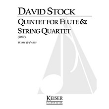 Lauren Keiser Music Publishing Quintet for Flute and String Quartet LKM Music Series Composed by David Stock