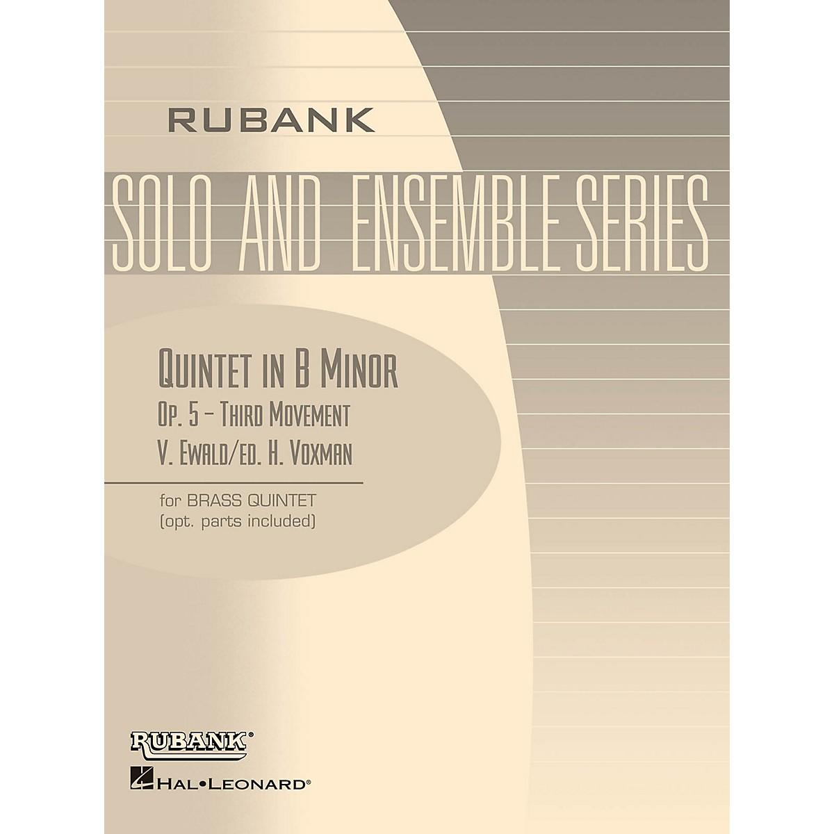 Rubank Publications Quintet in B Minor, Op. 5 - Third Movement (Brass Quintet - Grade 5) Rubank Solo/Ensemble Sheet Series