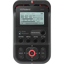 Roland R-07 High-Resolution Audio Recorder in Black