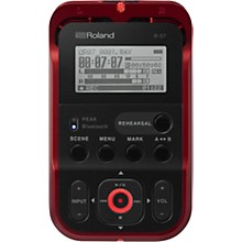 Roland R-07 High-Resolution Audio Recorder in Red