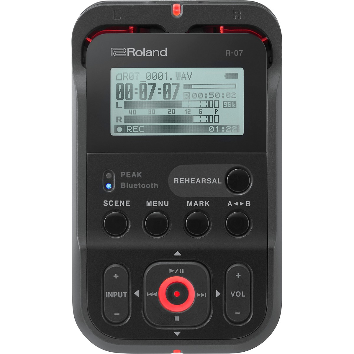 Roland R-07 High-Resolution Audio Recorder with Bluetooth  in Black
