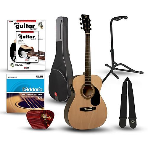 Rogue RA-090 Concert Acoustic-Electric Guitar Bundle