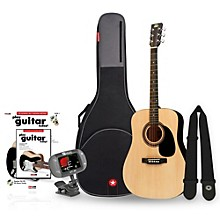 RA-090 Dreadnought Acoustic Guitar Bundle Natural