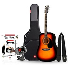 RA-090 Dreadnought Acoustic Guitar Bundle Sunburst