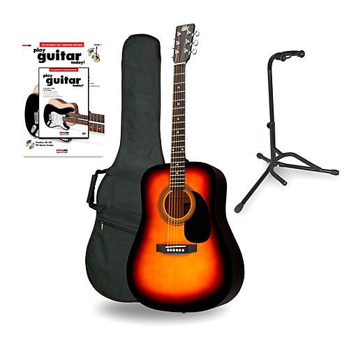 Rogue RA-090 Dreadnought Acoustic Guitar Sunburst - Beginner's Package