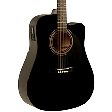 RA-090 Dreadnought Cutaway Acoustic-Electric Guitar Black