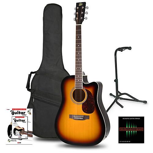 rogue ra 110d ce dreadnought acoustic electric guitar sunburst beginner 39 s package guitar center. Black Bedroom Furniture Sets. Home Design Ideas