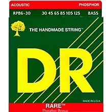 DR Strings RARE Phosphor Bronze 6-String Bass Strings Medium (30-125)