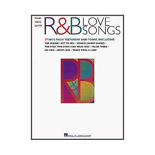 Hal Leonard R&B Love Songs Piano, Vocal, Guitar Songbook