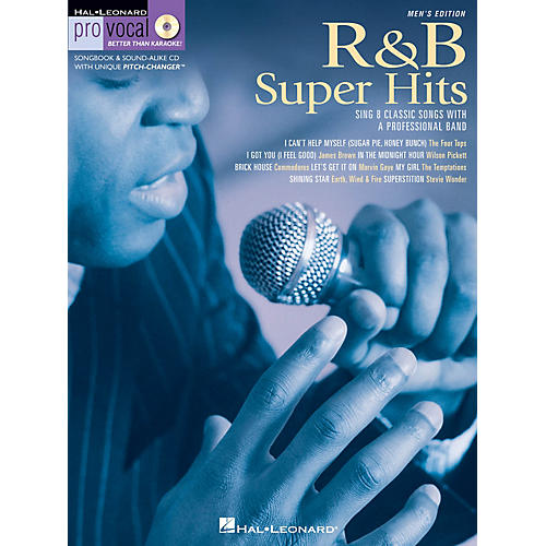 Hal Leonard R&B Super Hits (Pro Vocal Men's Edition Volume 6) Pro Vocal Series Softcover with CD