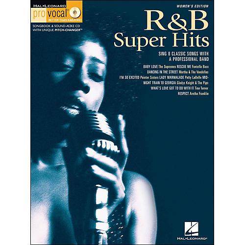 Hal Leonard R&B Super Hits Pro Vocal Songbook/CD for Women Singers Volume 7