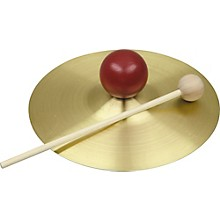 Rhythm Band RB733S Solid Brass Cymbal with Knob and Mallet