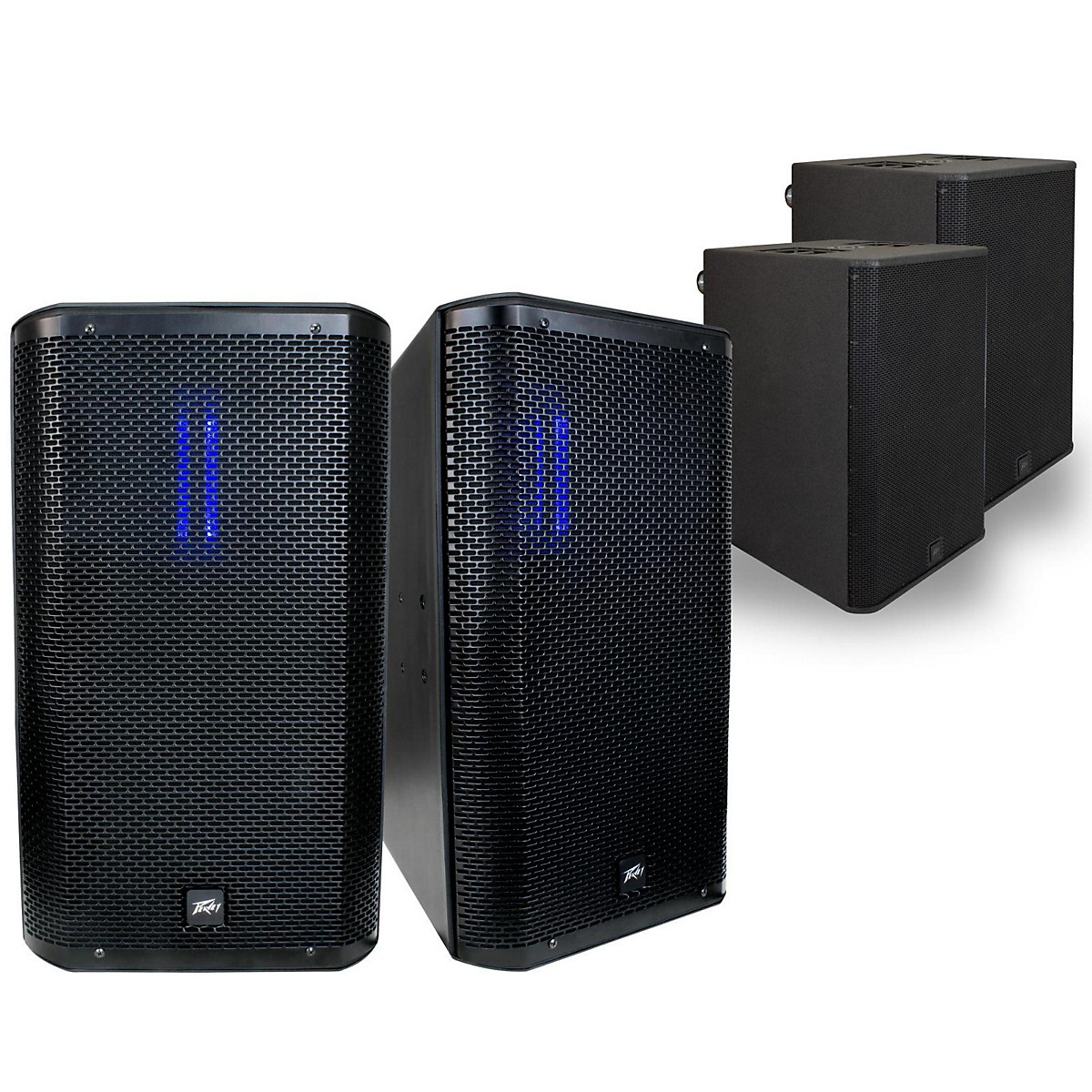 Peavey RBN 112 Ribbon Enclosure with RBN 215 Powered Sub Pair