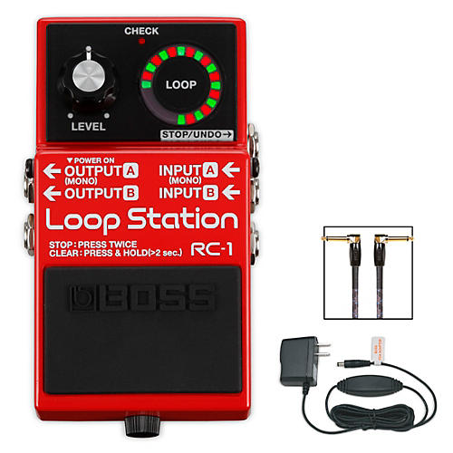 boss rc 1 loop station psa 120s2 ac power adapter and 3 39 instrument cable bundle guitar center. Black Bedroom Furniture Sets. Home Design Ideas
