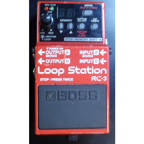 Boss RC3 Loop Station Red Pedal