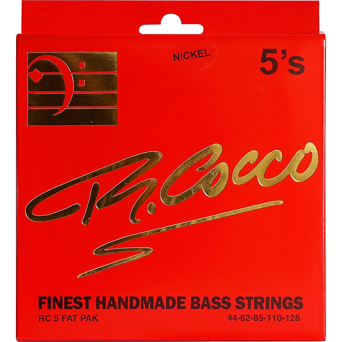 Richard Cocco RC5FATPN 5-String Nickel Electric Bass Guitar Strings