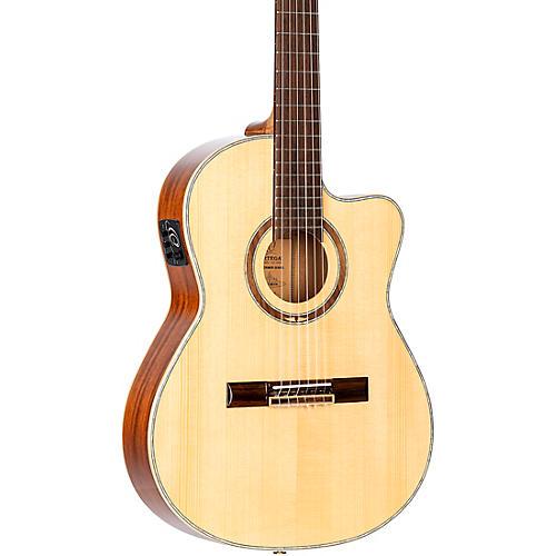 Ortega RCE138-T4 Thinline Acoustic-Electric Nylon Guitar