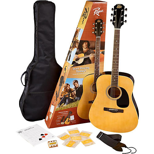 Rogue Rd80pk Dreadnought Acoustic Guitar Pack Guitar Center