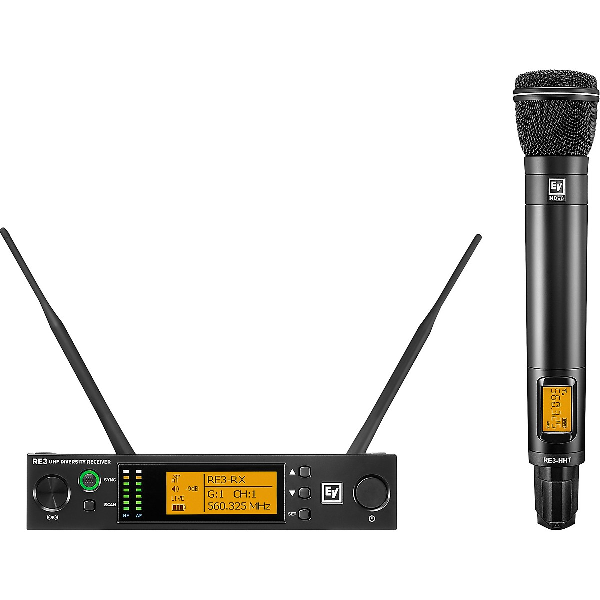 Electro-Voice RE3 Wireless Handheld Set with ND96 Dynamic Supercardioid Vocal Microphone Head