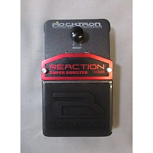 Pre-owned Rocktron REACTION SUPER BOOSTER Effect Pedal by Rocktron