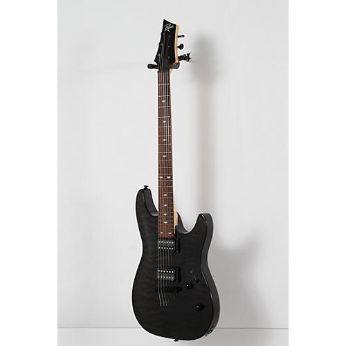 Rogue REL350 String-Thru Body Quilt Top Electric Guitar