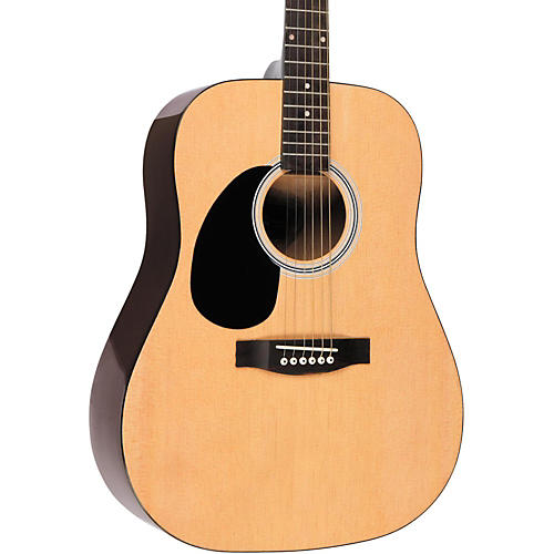 rogue rg 624 left handed dreadnought acoustic guitar natural