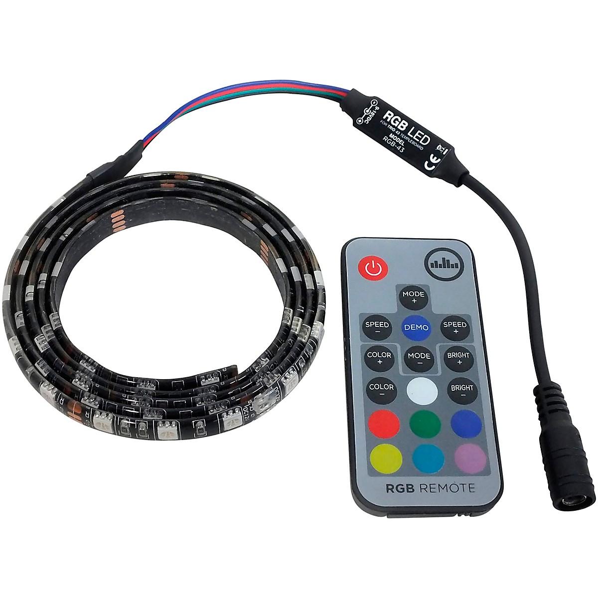 Temple Audio Design RGB LED Light Strip for TRIO 43 Pedalboard