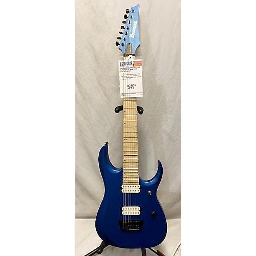 used ibanez rgdir7m solid body electric guitar electron blue metallic guitar center. Black Bedroom Furniture Sets. Home Design Ideas