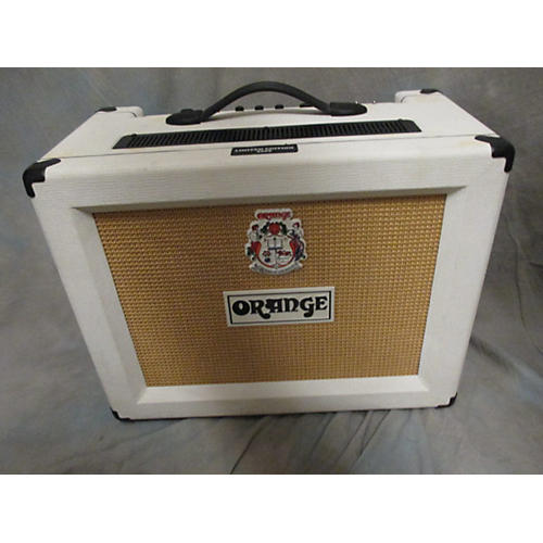 used orange amplifiers rocker 30 white tolex tube guitar combo amp guitar center. Black Bedroom Furniture Sets. Home Design Ideas