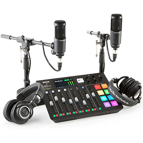 Rode RODEcaster Pro 2-Person Podcasting Bundle With AT2020 & ATHM50X