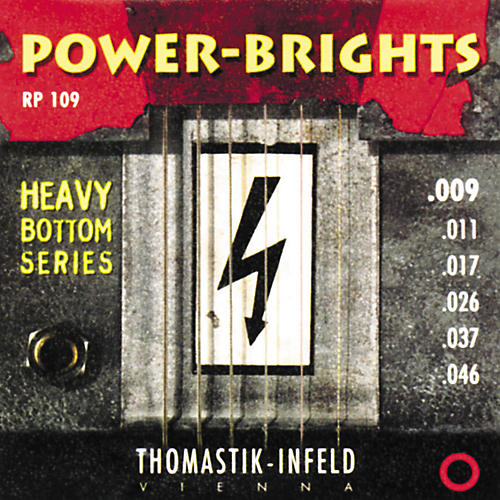 Thomastik RP109 Power-Brights Heavy Bottom Light Top Electric Guitar Strings