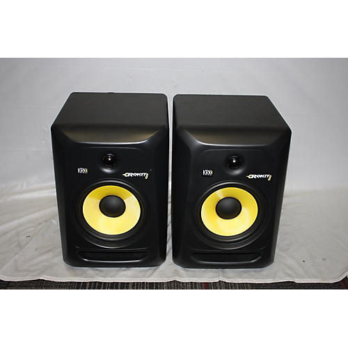 used krk rp8g3 pair powered monitor guitar center. Black Bedroom Furniture Sets. Home Design Ideas